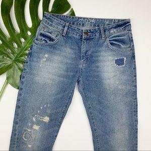 Zara Basic Z1975 Boyfriend Jeans Distressed 2
